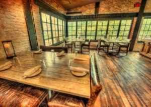 The Back Porch - available for private events at Virtue Feed & Grain